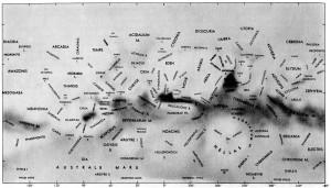 Mappa di Marte (albedo), 1971